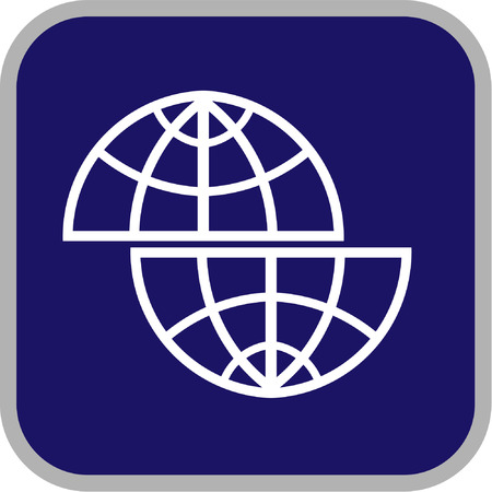 Vector globe icon. Simply change. Vector