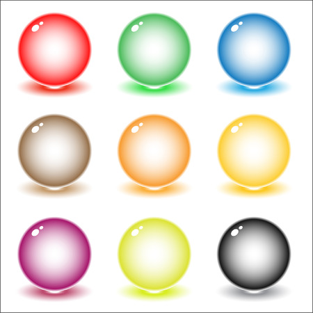 Vector coloured spheres illustration. Simply change. Vector