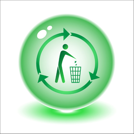 Vector recycling bin illustration. Simply change. Other ecological vectors you can see in my portfolio. Vector