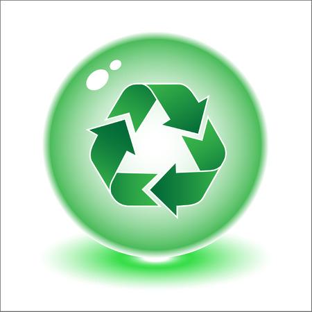 tu puedes: Vector reciclar s�mbolo ilustraci�n. Simplemente el cambio. Otros vectores ecol�gico se puede ver en mi cartera.