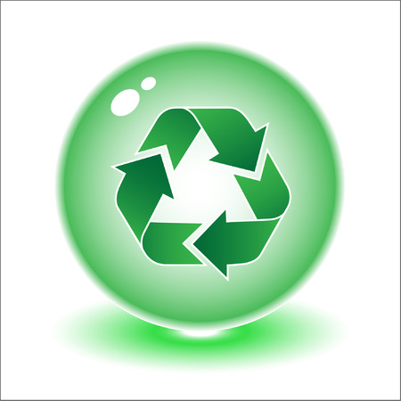 Vector recycle symbol illustration. Simply change. Other ecological vectors you can see in my portfolio. Vector