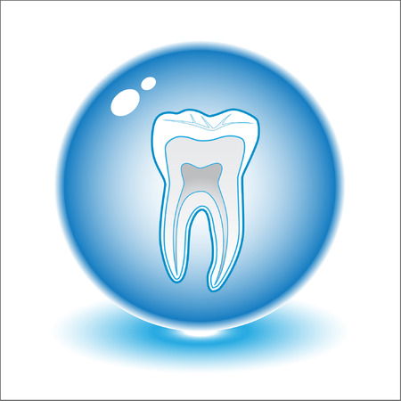 Vector tooth illustration. Simply change. Other medical vectors you can see in my portfolio. Vector