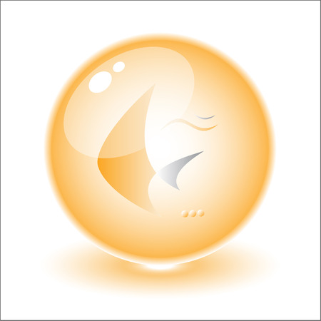Vector abstract internet icon. Orange set. Simply change. Other abstract icons you can see in my portfolio. Stock Vector - 3256529