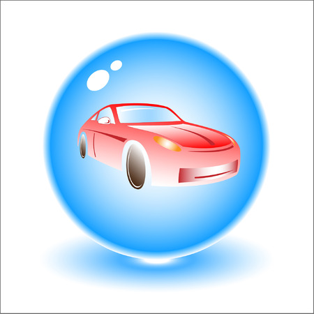 Vector car illustration. Simply change. Other transport icons you can see in my portfolio. Vector