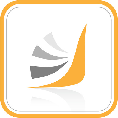 Vector abstract internet icon. Orange set. Simply change. Stock Vector - 3311194