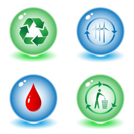 tu puedes: Reciclar los vectores de s�mbolos ilustraci�n. Simplemente el cambio. Otros vectores ecol�gica se puede ver en mi cartera. Vectores