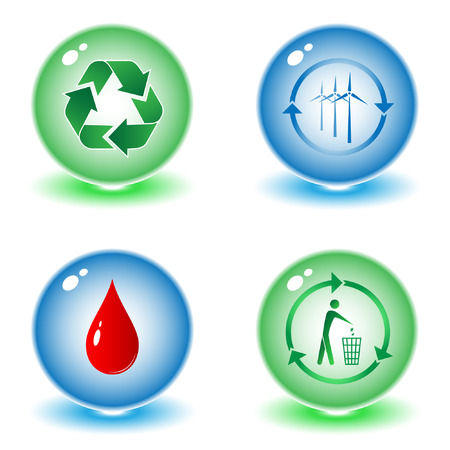 Vector recycle symbols illustration. Simply change. Other ecological vectors you can see in my portfolio. Vector