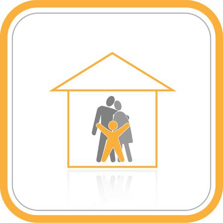 family clipart: Vector astratto Internet icone. Orange insieme. Basta cambiare. Altre icone astratto si pu� vedere nel mio portafoglio.