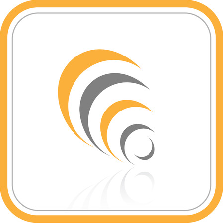 Vector abstract internet icon. Orange set. Simply change. Other abstract icons you can see in my portfolio. Vector