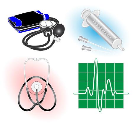 logo medicina: Vector m�dica iconos. Juego de colores. Simplemente el cambio. Otros iconos m�dico puede ver en mi cartera.