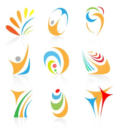 Vector abstract internet icon. Orange set. Simply change. Other abstract icons you can see in my portfolio. photo