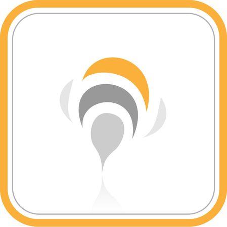 ordinateur logo: Vector r�sum� ic�ne Internet. Orange ensemble. Il suffit de changer. Autre r�sum� des ic�nes que vous pouvez voir dans mon portefeuille.