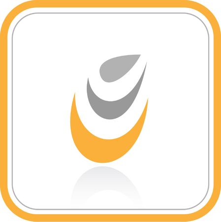Vector abstract internet icon. Orange set. Simply change. Other abstract icons you can see in my portfolio. Stock Photo - 3576882