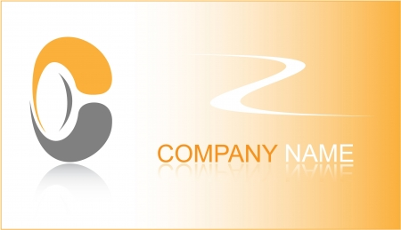 Business card. Orange set. Simply change. Other business cards you can see in my portfolio. Stock Photo - 3577004
