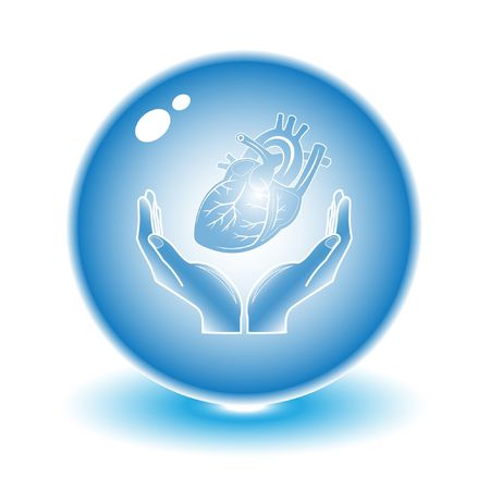 Protection of heart. Vector heart illustration. Simply change. Other medical vectors you can see in my portfolio. Stock Illustration - 3576981