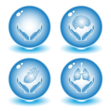 pulmones: Vector medical icons. Blue set. Simply change. Other medical icons you can see in my portfolio.