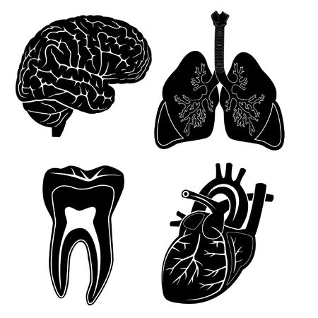 Vector medical icons. Black and white. Simply change. Other medical icons you can see in my portfolio. Stock Photo - 3577011