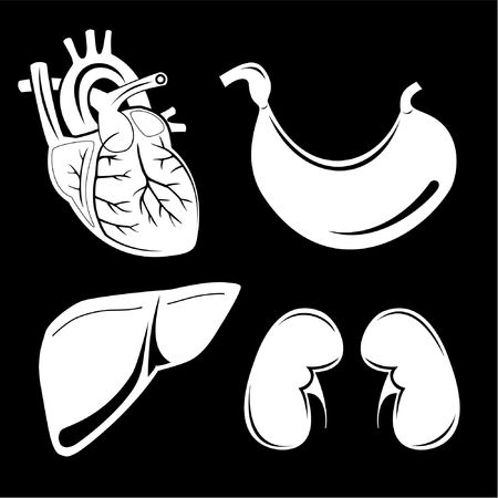 Vector medical icons. Black and white. Simply change. Other medical icons you can see in my portfolio. photo