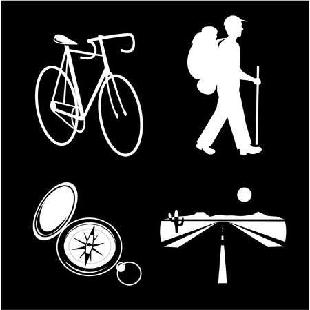 A set of travel icons. Black and white set. Simply change. Other travel icons you can see in my portfolio. photo