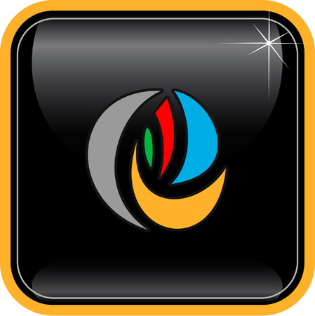 uncommon: Vector abstract internet icon. Orange set. Simply change. Other abstract icons you can see in my portfolio.