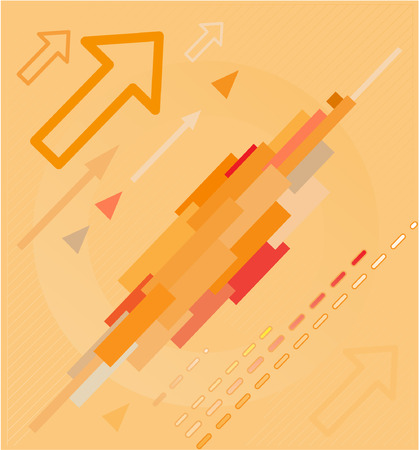 Abstract high-tech background. Orange set. Simply change. Vector