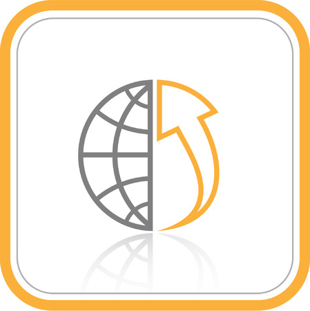 Vector abstract internet icon. Orange set. Simply change. Other abstract icons you can see in my portfolio. Stock Vector - 4311840