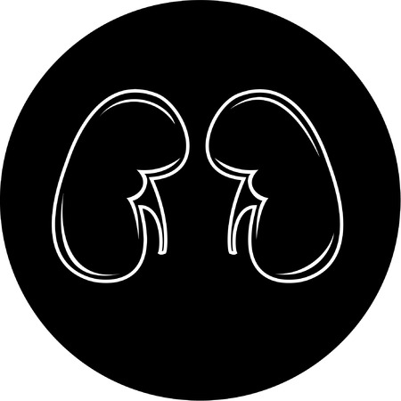 Vector kidneys icon. Black and white. Simply change. Stock Vector - 4311883