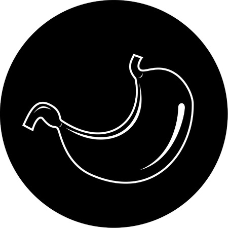 Vector stomach icon. Black and white. Simply change. Stock Vector - 4311962