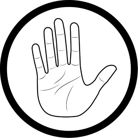 Vector hand icon. Black and white. Simply change. Stock Vector - 4312053