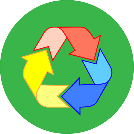 Vector recycle icon. Simply change. Vector
