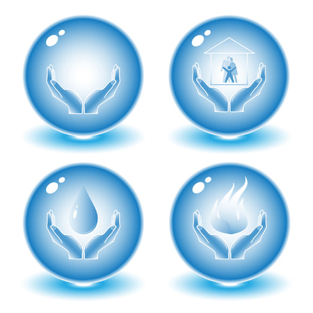 Vector abstract internet icons. Blue set. Simply change. Other abstract icons you can see in my portfolio. Vector