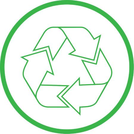 logo recyclage: Vector recycler ic�ne. Vert et blanc. Il suffit de changer.