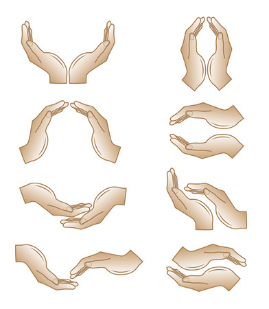 Vector hands icons. Simply change.