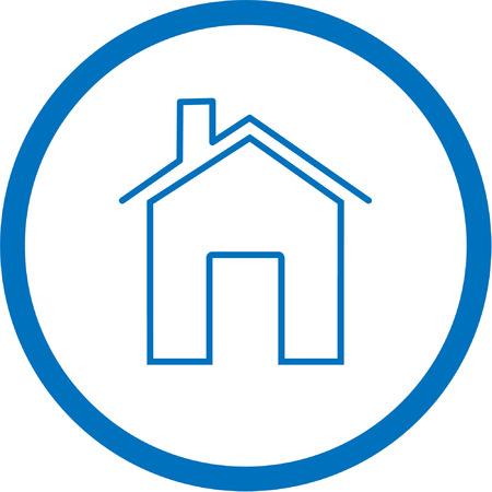 icone maison: Vector ic�ne. Bleu et blanc. Il suffit de changer.