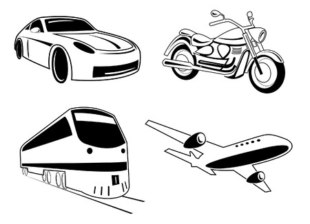 Vector transport illustration. Black and white. Other transport icons you can see in my portfolio. Stock Vector - 4351316