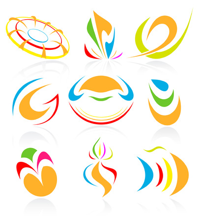 Vector abstract internet icons. Orange set. Simply change. Other abstract icons you can see in my portfolio. Stock Vector - 4361102