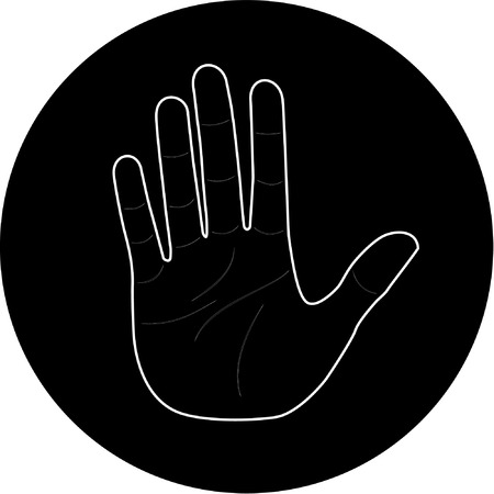 Vector hand icon. Black and white. Simply change. Stock Vector - 4361062