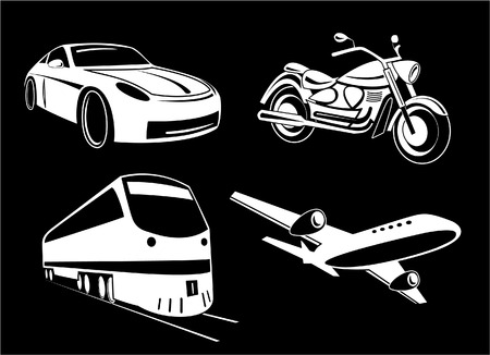 unicoloured: Vector transport illustration. Black and white. Other transport icons you can see in my portfolio.