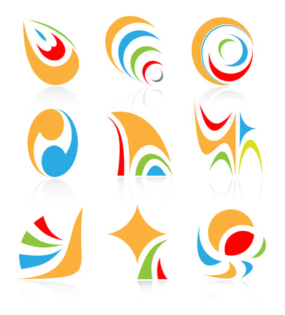 Vector abstract internet icons. Orange set. Simply change. Other abstract icons you can see in my portfolio. Stock Vector - 4381845