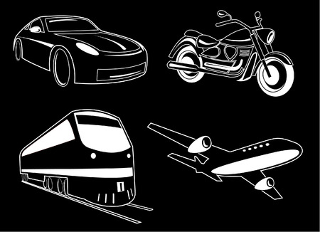 Vector transport illustration. Black and white. Other transport icons you can see in my portfolio. Stock Vector - 4381848