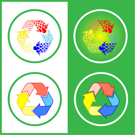 Vector recycle icons. Color set. Simply change. Vector