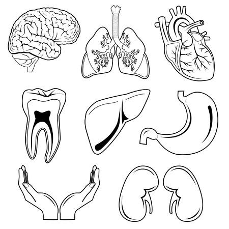 Vector medische pictogrammen. Zwart en wit.