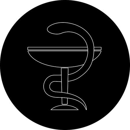 Vector pharma symbol. Black and white. Simply change. Stock Vector - 4483297