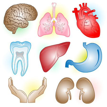 Vector medical icons. Color set. Simply change. Vector
