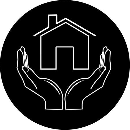 icone maison: Vector ic�ne Illustration
