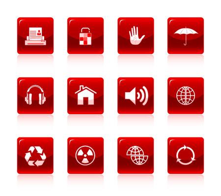 Vector internet icon set Stock Vector - 4602051