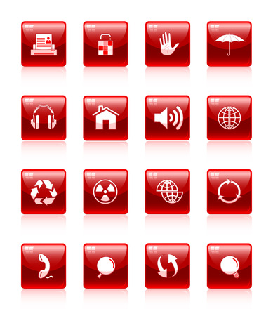 Vector internet icon set Stock Vector - 4608236