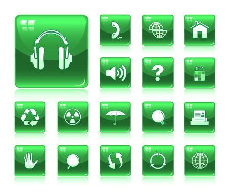 Vector internet icon set Stock Vector - 4640370