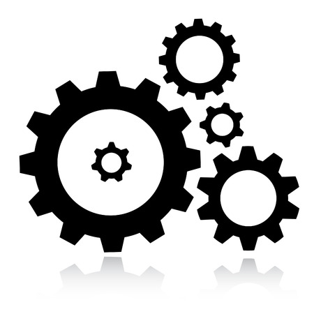 Vector gears icon Vector