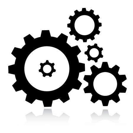 Vector Getriebe-Symbol Vektorgrafik